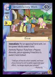 MLP Unsatisfactory Work Friends Forever CCG Card