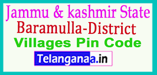 Baramulla District Pin Codes in Jammu & Kashmir State
