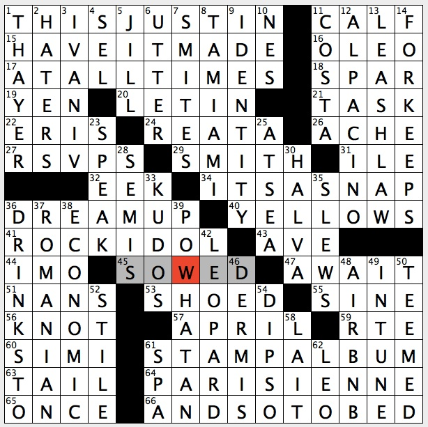 Rex Parker Does The Nyt Crossword Puzzle February 2016