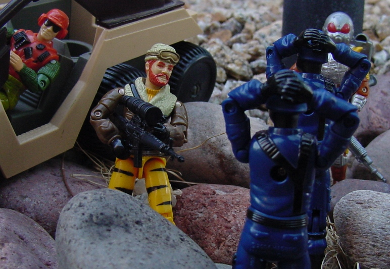 1988 Tiger Force Frostbite, Flint, 2007 Chuckles, 2004 Cobra Trooper