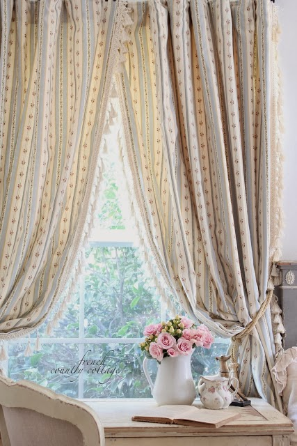 New Drapes With A Twist French Country Cottage