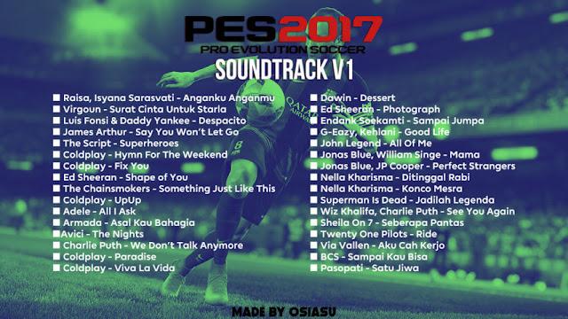 Lagu PES 2017 Terbaru V1 dari Osiasu