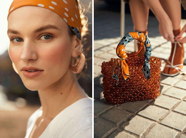Как носить платок на голове и на сумке