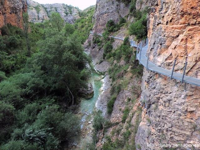 Pasarelas del río Vero, Alquézar, Aragón