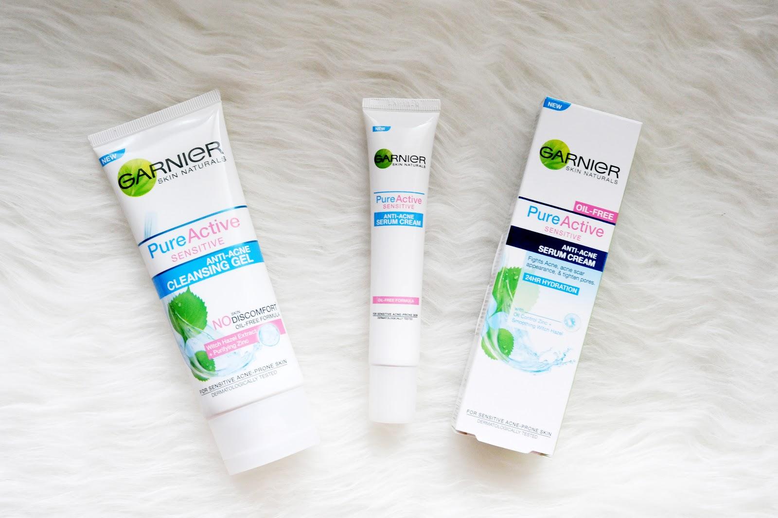 Review Garnier Pure Active Sensitive Anti Acne Magellanictivity Care Whitening Cream 20ml Di Sini Gue Bakal Dua Produknya Yaitu Cleansing Gel Dan Serum Iya