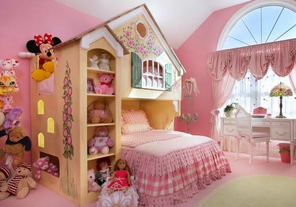 cuarto rosa niña