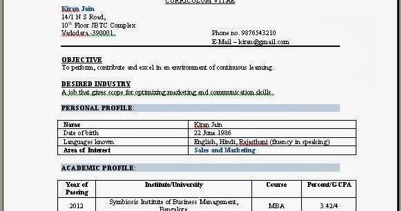 Mba Marketing Experience Resume Sample - Costumepartyrun