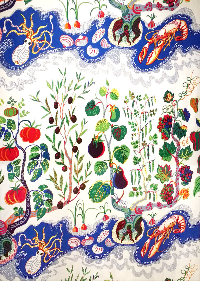 Italian Dinner by Josef Frank as the Fashion and Textile Museum. On Kim Dellow's Blog.