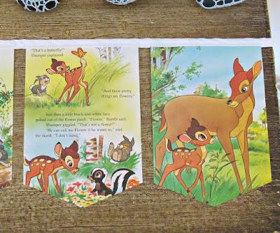 image bambi bunting disney garland woodland domum vindemia etsy handmade kids nursery