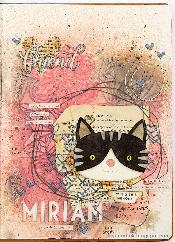 Layers of ink - Vintage Kitten Art Journal Page Tutorial by Anna-Karin Evaldsson with SSS STAMPtember products