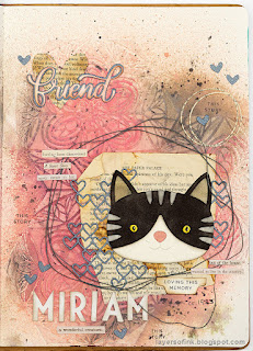 Layers of ink - Cat Art Journal Page tutorial by Anna-Karin Evaldsson