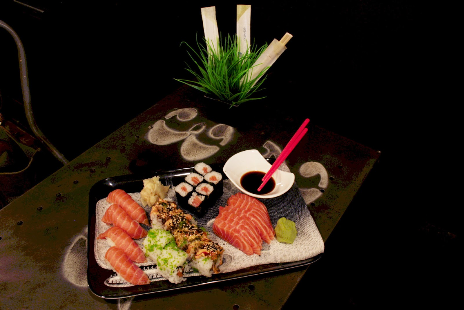 A freshly rolled selection of sushi from Zero juice and sushi in Berkhamsted