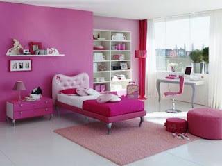 Desain Kamar Anak Cewek Sederhana Cat Warna Pink
