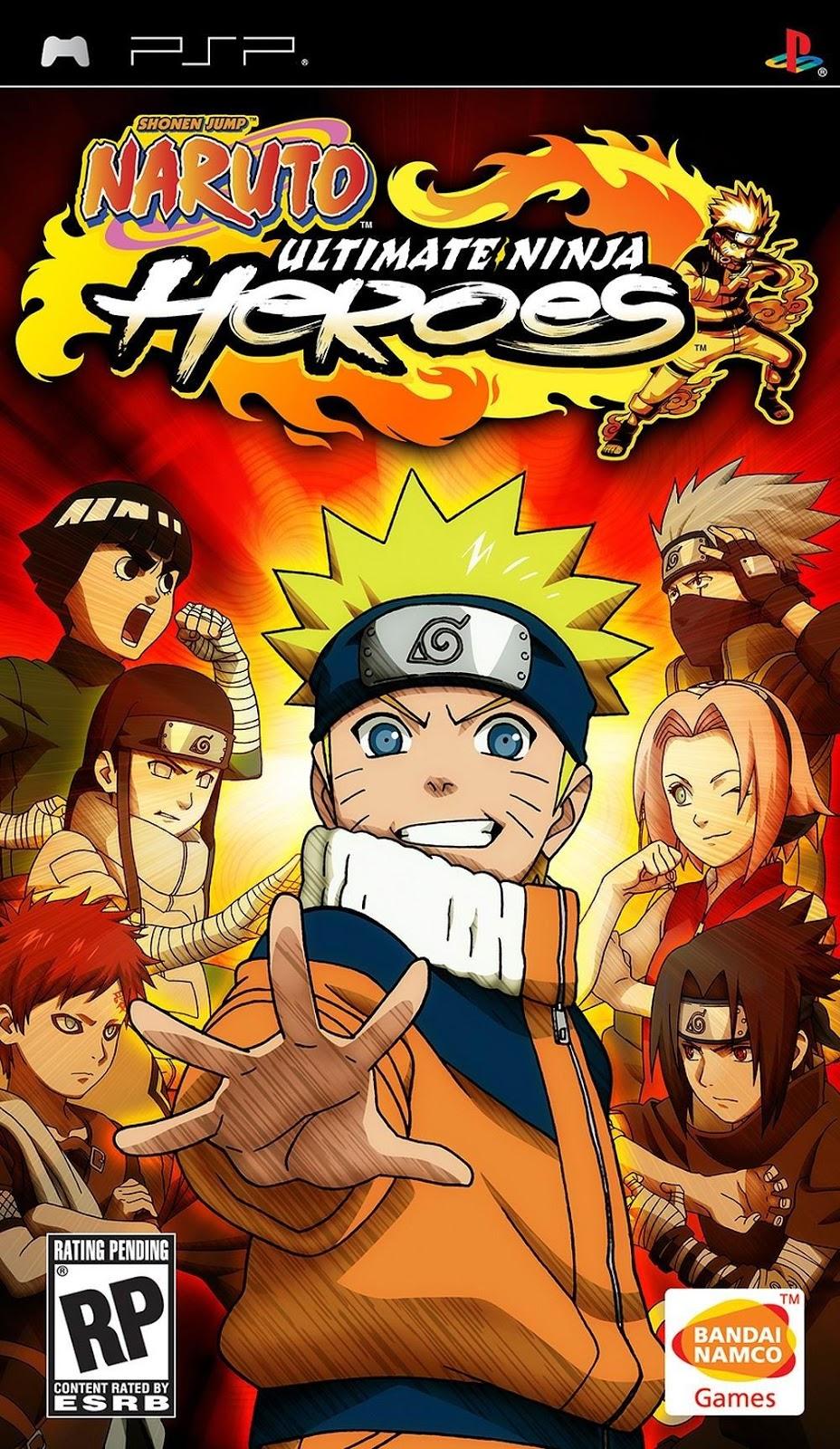 free download naruto shippuden ultimate ninja heroes 3 psp iso