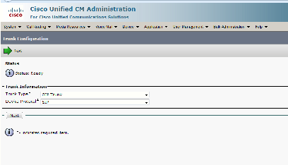 Integrate VoIP with 3CX using CUCM - make configuration Trunk