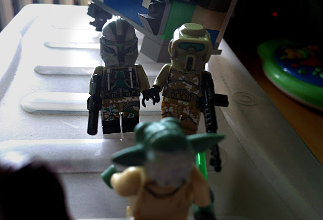 Grand master Yoda, clone commander Gree and clone scout kashyyyk Clone Wars