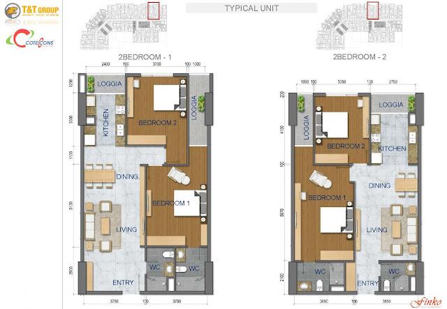Sơ đồ căn hộ 440 Vĩnh Hưng