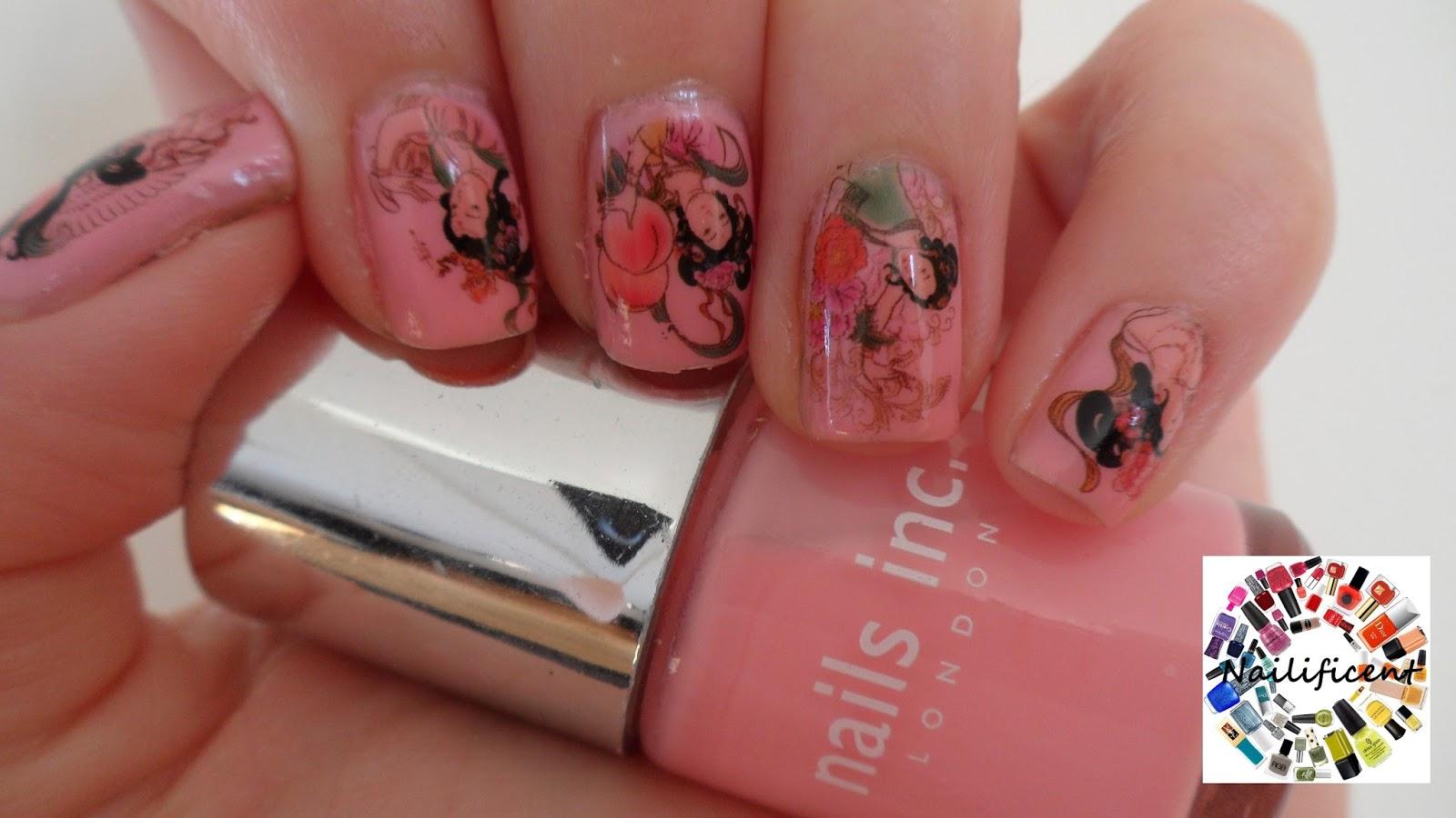 Water Nail Art: Nailificent: Geisha Girl Water Decal Nail Art
