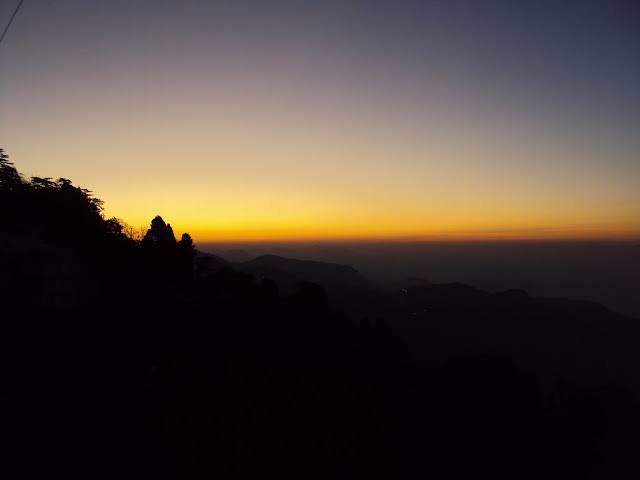 sunrise in mussoorie