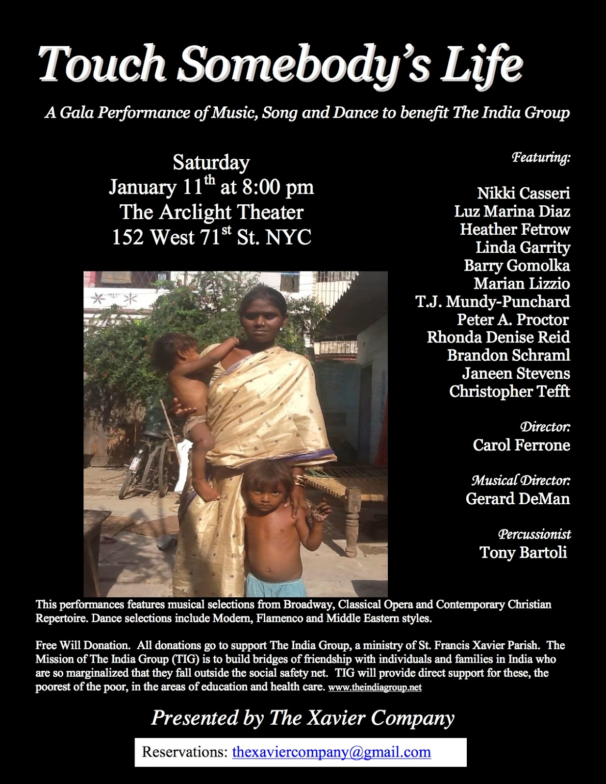 The India Group: Touch Somebody's Life! Gala Performance of