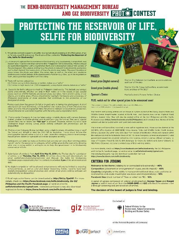 Protecting the Reservoir of Life, Selfie for Biodiversity Photo Contest