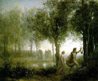 Orfeu guiando Eurídice do submundo, 1861  Jean-Baptiste Camille Corot