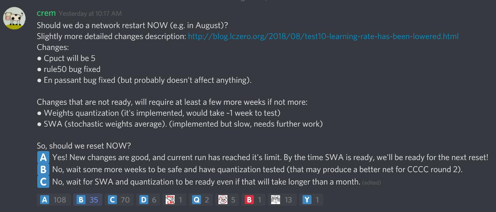 LCZero blog: August 2018