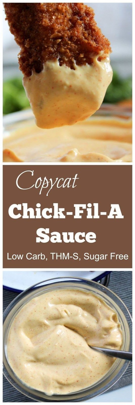Copycat Chick-Fil-A Sauce (THM-S, Low Carb, Sugar Free)