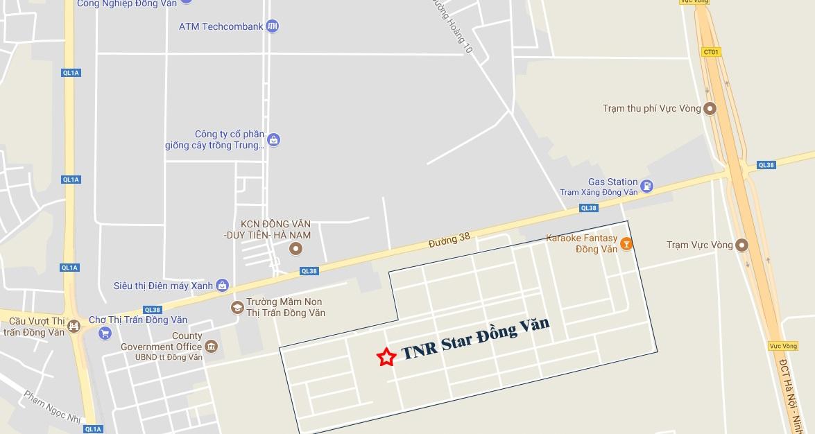 VỊ TRÍ DỰ ÁN TNR STARS ĐỒNG VĂN HÀ NAM