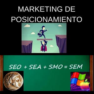 las diferencias entre SEM y SEO para posicionamiento de mercado digital, SEA para conseguir enlaces de calidad y ayudar a una weblog a mejorar en SERP'S de búsquedas. SMO y SMM para lograr éxito en las redes sociales.