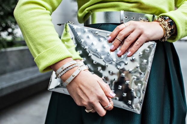 Ela Mirror Ball Editor's Pouch and Charming Charlie bangles