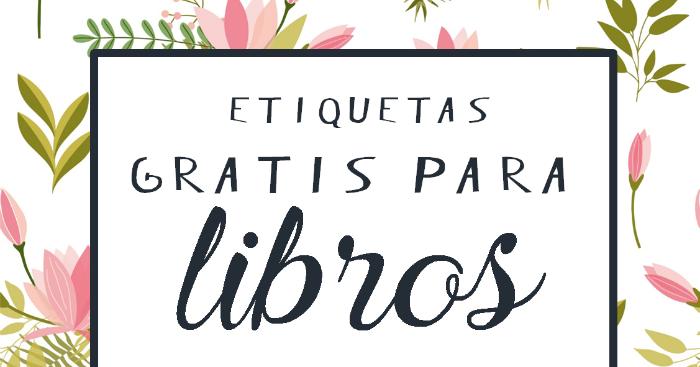 Creative Mindly: Etiquetas Gratis Para Libros O Para Lo