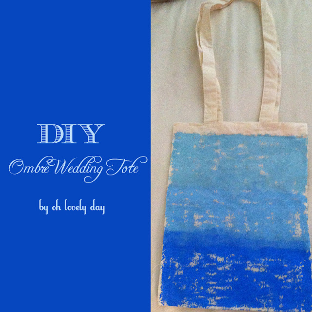 DIY ombré wedding tote by oh lovely day