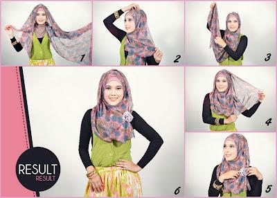 Gambar Cara Memakai Jilbab Modern Yang Modis Dan Mudah