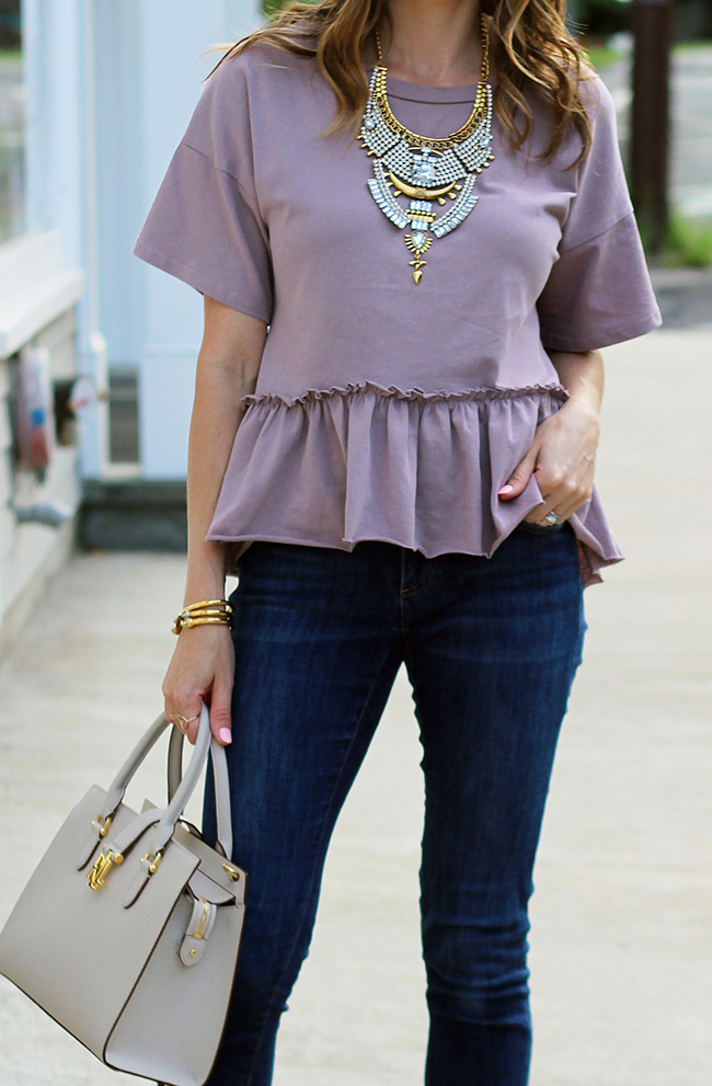 budget friendly peplum tee