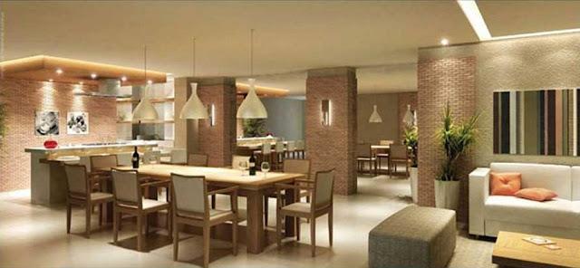 Construindo minha casa clean espa o gourmet com for Sala de estar gourmet