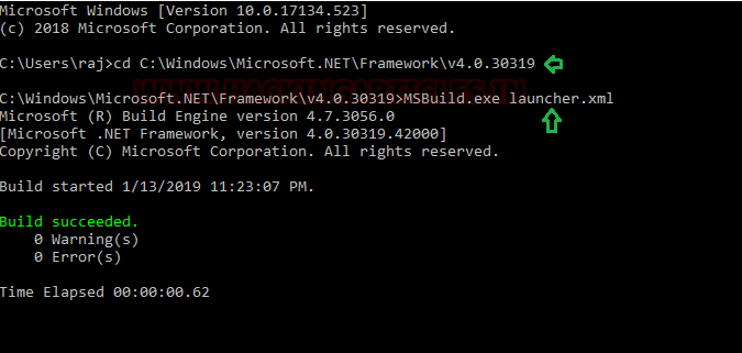 Bypass Application Whitelisting using msbuild exe (Multiple