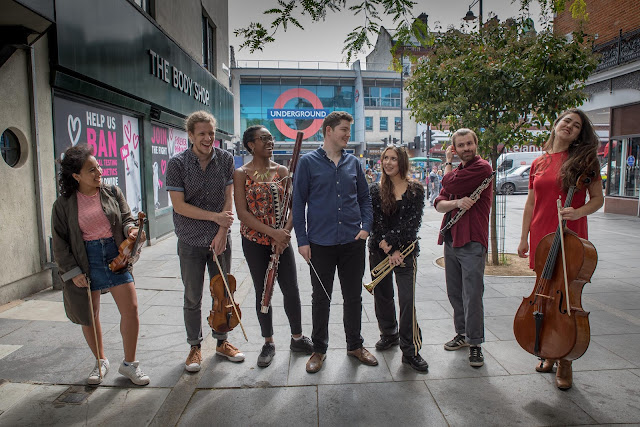 Matthew O'Keeffe and members of Brixton Chamber Orchestra