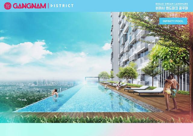 infinity pool at gangnam district bekasi