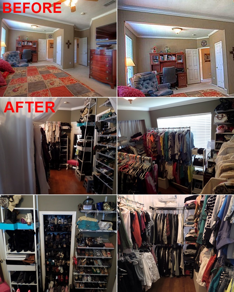 Meg made creations turn a room into a closet - How to turn a bedroom into a closet ...