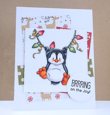 Heather's Hobbie Havn - Just for Fun Saturday - Penguin Light Me Up Card