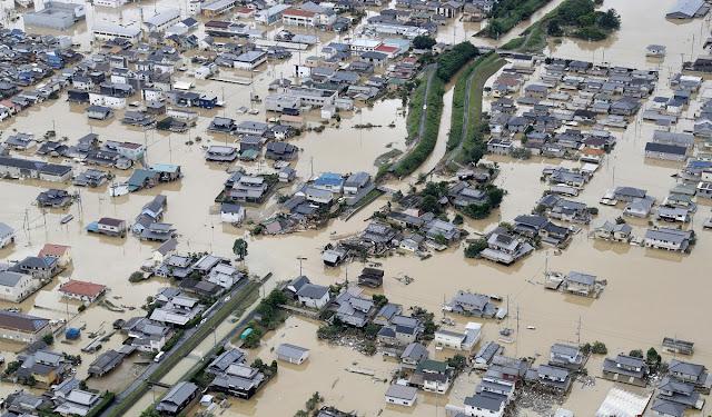 Korban Tewas banjir Di Jepang Jadi 132 Orang, Evakuasi Terus Berlanjut