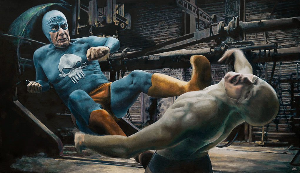 19-Andreas-Englund-Paintings-of-the-Unglamorous-Side-of-a-Superhero-www-designstack-co