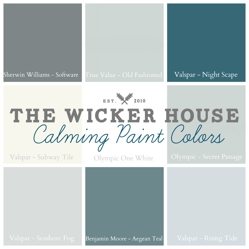 Calming Paint Colors The Wicker House Paint Colors  The Wicker House