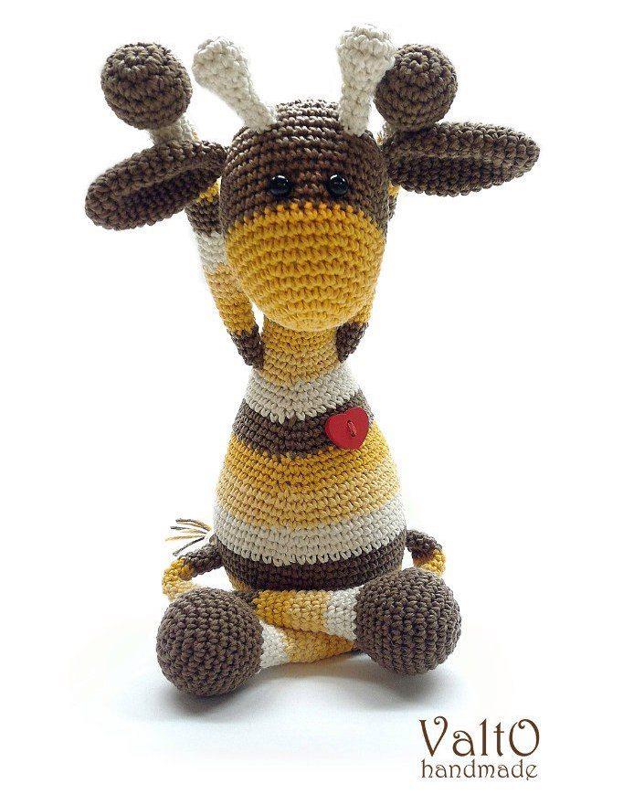 Жираф амигуруми игрушка крючком