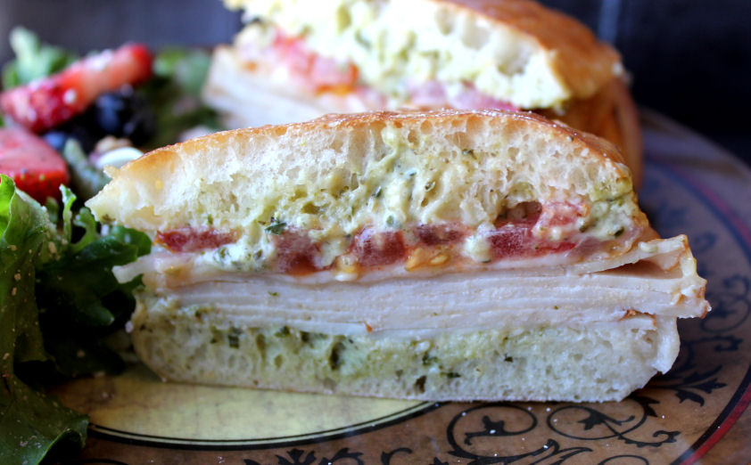 Costco Turkey Provolone Pesto Sandwich Melt | Jamie Cooks It Up
