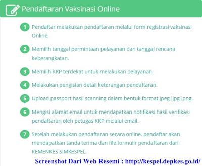 Registrasi Vaksin Meningitis di Kantor Kesehatan Pelabuhan