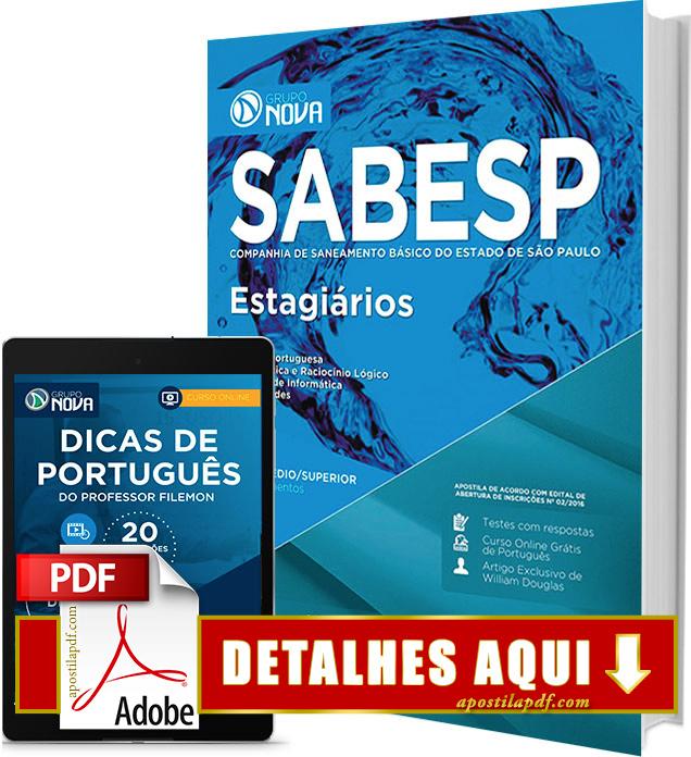 Apostila SABESP 2016 Estagiários Impressa