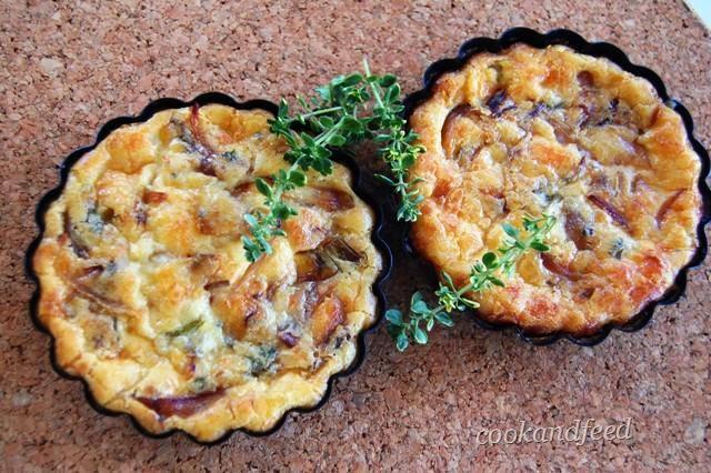 τάρτα με κρεμμύδια / Onion Tart
