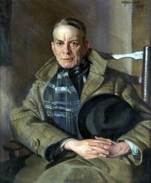 Portrait of Hugh Munro, William Oliphant Hutchison, Self Portrait, Art Gallery, William Oliphant, Portraits of Painters, Oliphant Hutchison, Fine arts, Self-Portraits, Painter William Oliphant
